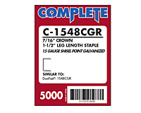 "15 Gauge, 7/16"" Medium Crown Staple (C-1548)"