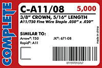Fine Wire Staples (C-A11-08)