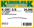 Klinch-Pak Roll Staples (K-GR1-5/8)