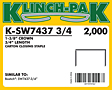 Klinch-Pak Stick Staples (K-SW7437-3/4)
