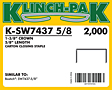 Klinch-Pak Stick Staples (K-SW7437-5/8)